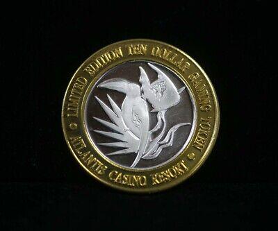 $10 Atlantis Casino Resort Reno Silver Strike Toucan & Angel Fish