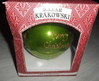 "BAZAR KRAKOWSKI Handmade in POLAND large 5.5""  Merry Christmas / Santa Ornament"