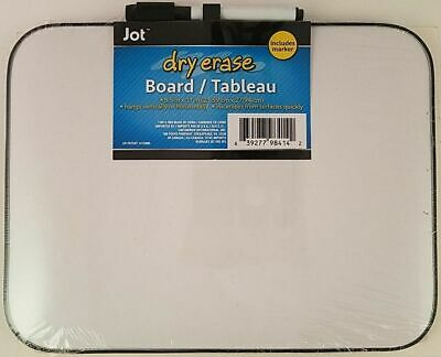 Dry Erase Whiteboard With Marker Light Duty White Board 8.5 X 11 New