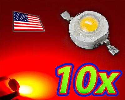 10x 1w Bright Red High Power Led Lamp Beads 40-50lm 1 Watt