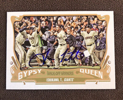 Travis Ishikawa Signed 2015 Topps Gypsy Queen Autographed Card Auto Giants