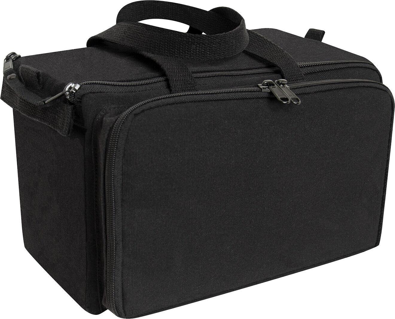Black Canvas Tactical Shooting Range Bag Firearm Carry Gear Bags