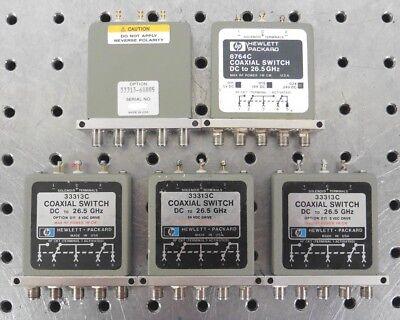 C149726 Lot 5 Hp Agilent 5-port Coaxial Switch Dc-26.5ghz 3 33313c 1 8764c