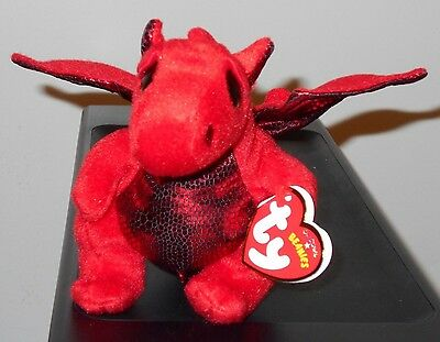 Ty Beanie Baby ~ Y DDRAIG GOCH the Dragon -UK EXCLUSIVE- NEW VERSION ~ MWMT