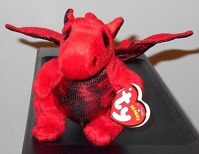 Ty Beanie Baby ~ Y DDRAIG GOCH the Dragon -UK EXCLUSIVE- 2015 VERSION - MINT TAG