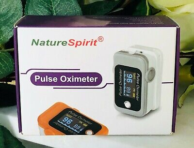Nature Spirit Pulse Oximeter - Pulse Rate - Oxygen Level Orange Free Shipping