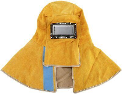 Solar Welding Helmet Hood Mask Helmet Cowhide Split Leather Auto Darkening Filte