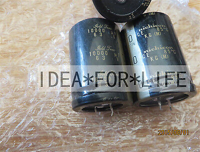 2pc Nichicon Kg Gold Tune 10000uf 63v Audio Grade Electrolytic Capacitor C2qp