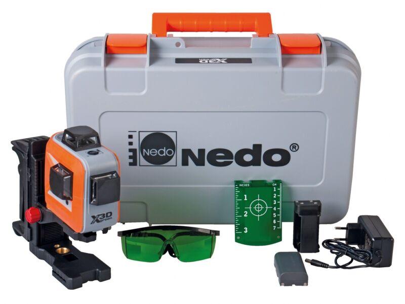 NEU: Nedo X-Liner 3D green mit 3 x 360° Laserlinien Baulaser Trockenbau Fliesen