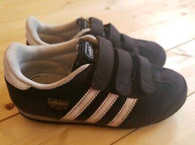 Adidas Dragon Boy Trainers Shoes Black Infant Size 11 Uk