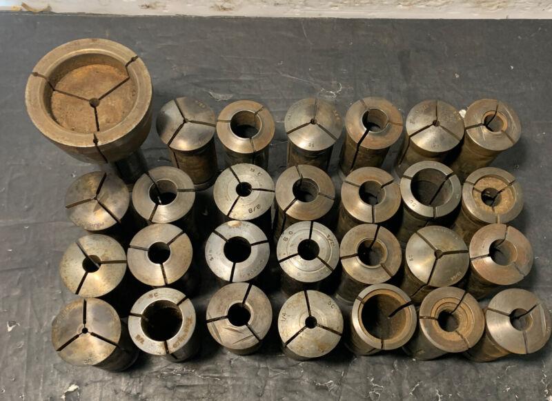 Lot of 28 5C Collets Hardinge Enco Lathe Milling Machinist Emergency Used