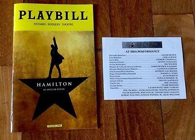 HAMILTON PLAYBILL BOOK BROADWAY NEW YORK CITY NYC 2017 Lin Manuel Javier Munoz