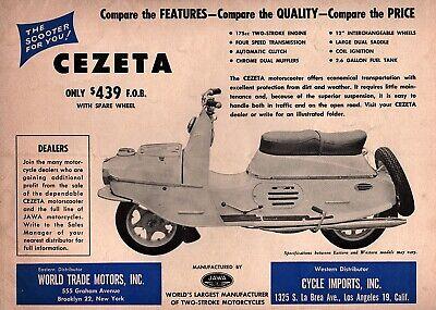 """1960 Cezeta 502 Scooter """"The Scooter For You"""" Original Ad"""