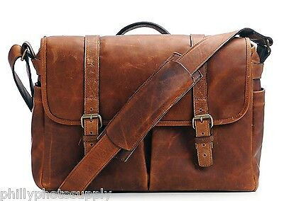 Ona Brixton Leather Camera Messenger Bag (Cognac) - Handcrafted Premium Bags