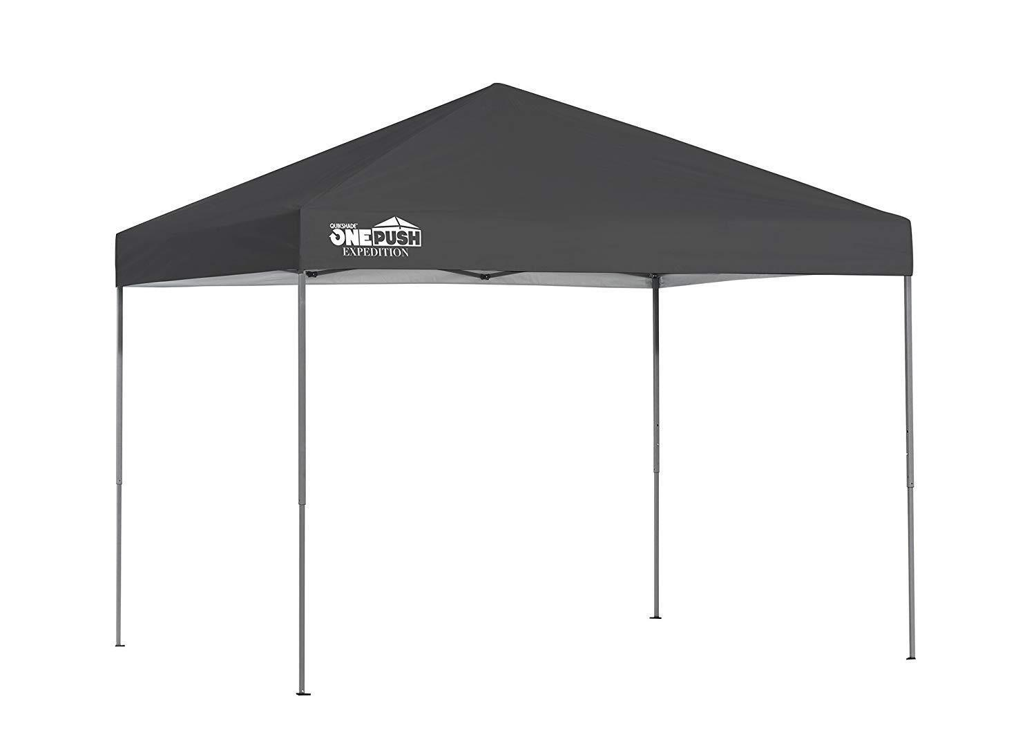 Details about Quik Shade Expedition One Push 8 X 10 Ft  Straight Leg Canopy  Charcoal