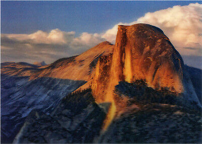 Sunset Dome (Half Dome at Sunset - 3D Lenticular Postcard Greeting Card)