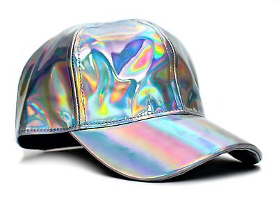 New Marty McFly Hat Back To The Future Curved Bill Silver Iridescent Cap Adult - Marty Mcfly Jacket