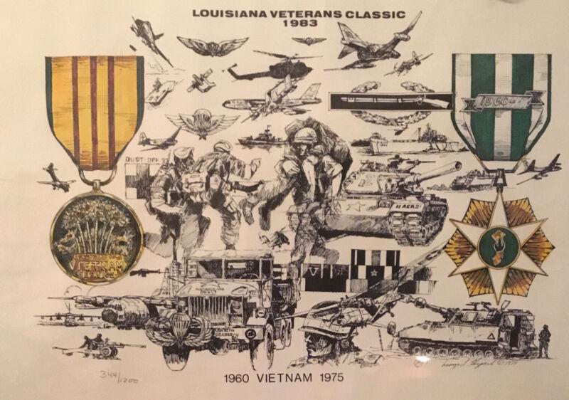 LOUISIANA VETERANS CLASSIC 1960-1975 VIETNAM GEORGE SKYPECK NUMBERED SIGNED 1979