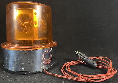 Vintage Kd Lamp Company Model 886 Emergency Light Revolving Beacon Amber Working