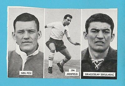 FOOTBALL - D.C. THOMSON -  CUP - TIE  STARS  OF  ALL  NATIONS  CARD  (E) -  1962