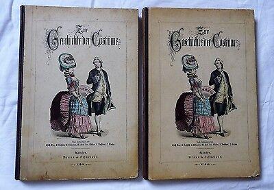 Zur Geschichte der Costüme - Historische Köstüme in Farbe, 2 Bände Kostüm