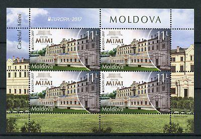 Moldova 2017 MNH Castel MIMI Castles Europa 4v M/S Architecture Stamps