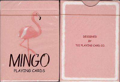 Mingo Flamingo Playing Cards Poker Size Deck TCC Custom Limited Edition Sealed