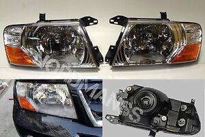 Mitsubishi Pajero Montero L and R Set Headlights head lamps lights 2000-2006