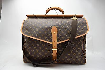 Authentic Louis Vuitton Travel Bag Sac Chasse M41140 Browns Monogram 24393