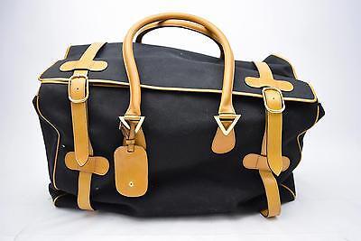 Authentic Valentino Boston Bag  Black Canvas 106584