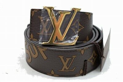 Louis vuitton ceinture supreme initiales monogramme marron 95/38 1600519