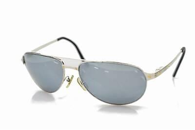Cartier lunettes de soleil santos-dumont aviateur argent x or 1202227