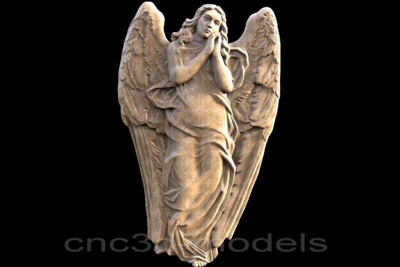 3D STL Models for CNC Router Carving Artcam Aspire Religion Cherub Angel 274