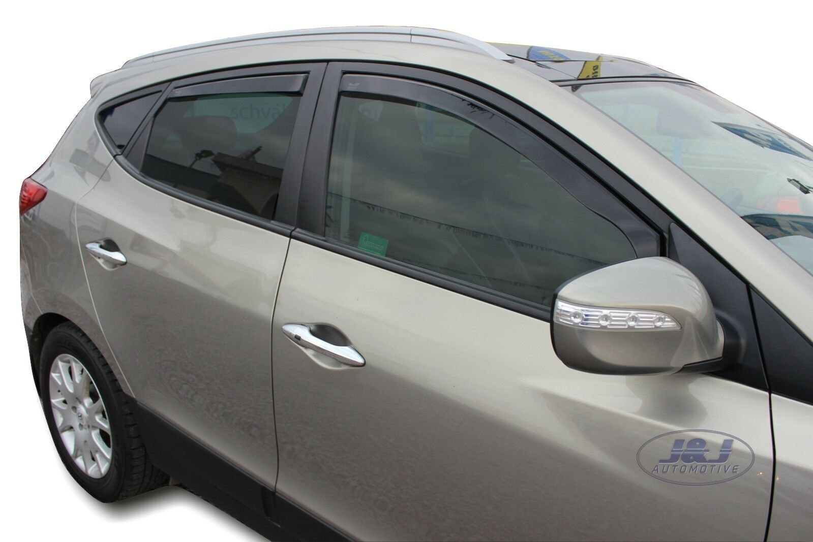 Deflecteurs dair d/éflecteurs de Vent Compatible avec Hyundai Tucson III 2015-pr/és 4 pi/èces J/&J AUTOMOTIVE