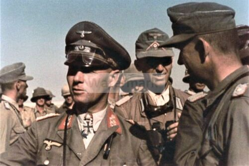 WW2 photo Commander of the African Corps of the Wehrmacht, Lieutenant Gene #1396