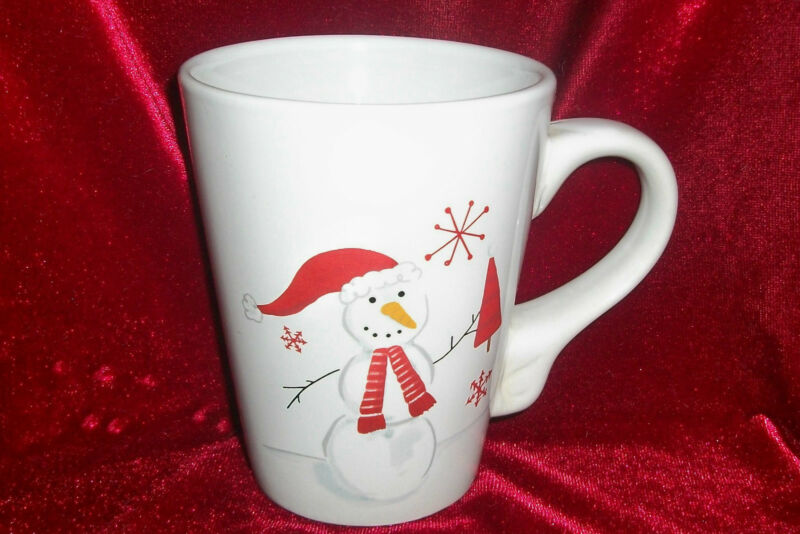 Classic Ceramics California Pantry Christmas Snowman Coffee/Tea or Hot Coco Mug