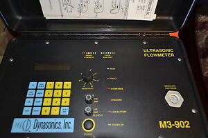 DYNASONICS-INC-M3-902-ULTRASONIC-FLOW-METER-PORTABLE-USED-AS-IS