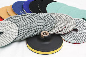 Diamond-Polishing-Pads-4-inch-Wet-Dry-15-Piece-Set-Granite-Stone-Concrete-Marble
