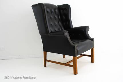 Mid Century Wingback Armchair Wing Chair Retro Vintage