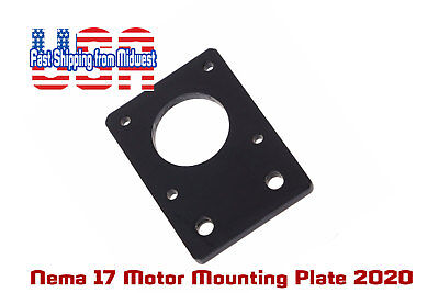2020 Nema17 Stepper Motor Mounting Plate Anodized Black Lots Of 1 2 4