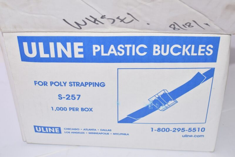NEW, Uline, Part: S-257, Plastic Buckles, Poly Strapping