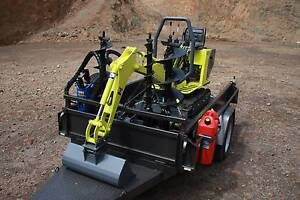 Micro Excavator/Tipper Trailer DRY HIRE Burnie Burnie Area Preview