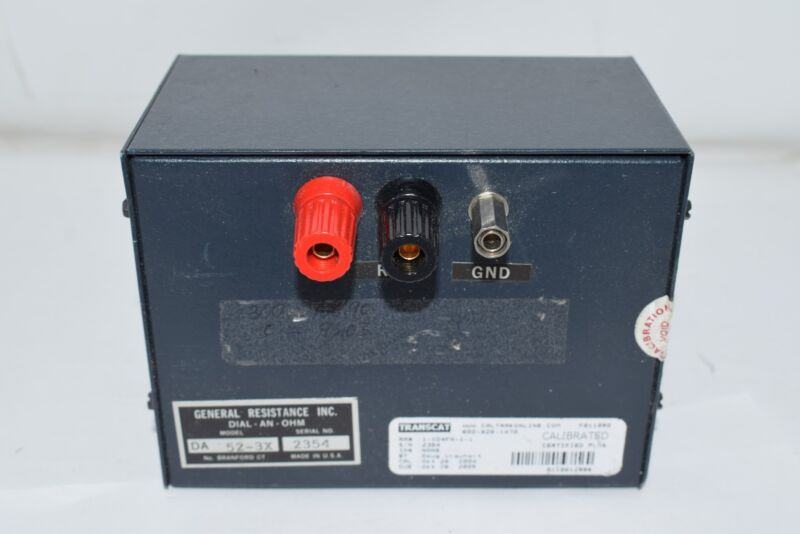 General Resistance DA-52-3X Decade Box 0.01% Acc Resistance 5 Decades
