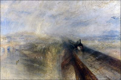 Poster, Many Sizes; Rain, Steam And Speed – The Great Western Railway By J.M.W.