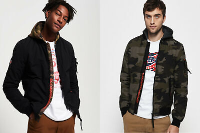 Superdry Mens Hooded Air Corps Bomber Jacket
