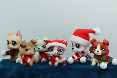 6 lot Rare Littlest Pet Shop LPS Great Dane Dogs Collie Cat Collection Authentic