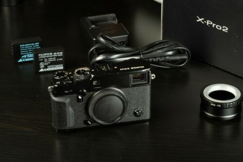 Fujifilm X-Pro2 24MP Body - Black w/Arca Bkt, M42 Adapter, 2 Batts, Original Pkg