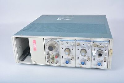 As Is - Tektronix Tm506 6-slot Module Mainframe With Modules Fg 501 Am 503