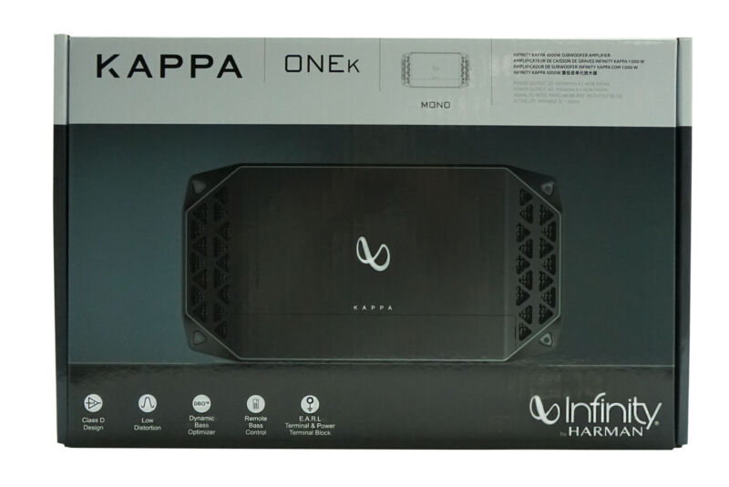 Infinity KAPPA ONE K -1000 Watts  Monoblock Car Subwoofer Amplifier *KAPPAONEKAM
