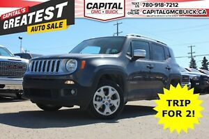 2017 Jeep Renegade LIMITED 4WD | LEATHER | SUNROOF | 18 WHEELS |
